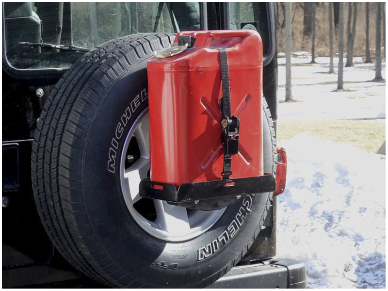 Spare Tire Jerry Can Holder W Short Tray Retrofit Offroad