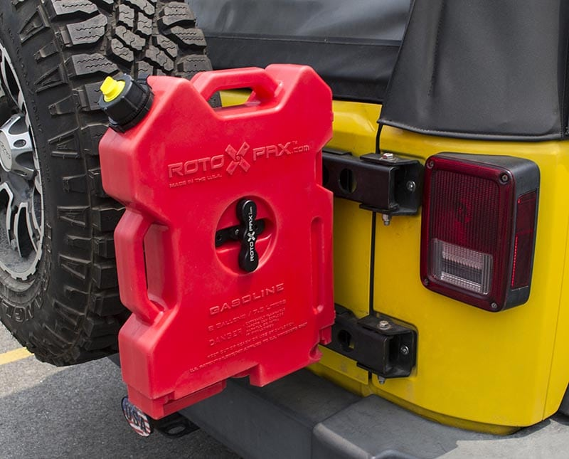 Jeep Rotopax Tailgate Hinge Mount Retrofit Offroad