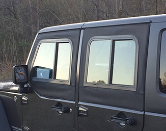 Soft Retrofit Half Door ... & Soft Retrofit Half Door Slider Kit u2013 Jeep JKU 4 Door Clear Windows ...