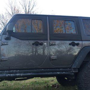 Soft Retrofit Half Door Slider Kit U2013 Jeep JKU (4 Door) Tinted Rear Windows