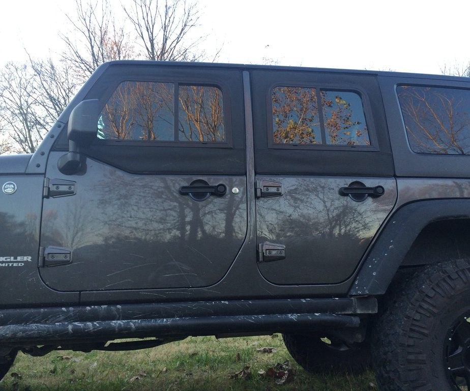 Jeep Jk 2 Door Soft Retrofit Half Door Upper Slider Kit