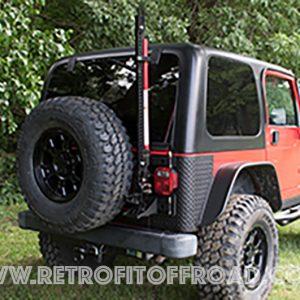 Jeep Wrangler TJ Offroad Jack Carrier u2013 JP54-024 & MORryde Jeep TJ Heavy Duty Tailgate Hinges | Retrofit Offroad